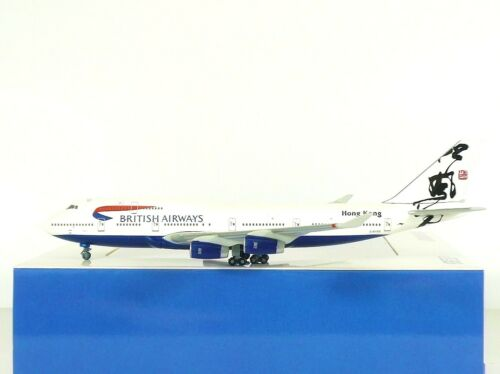 G-BYGD Herpa Wings British Airways B747-400 1:500 Hong Kong Tail Reg 504041