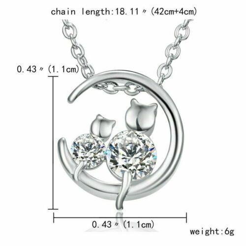 Charme Cristal Argent Zircon Pendentif Collier Choker Chaîne Femmes Bijoux Cadeau Hot