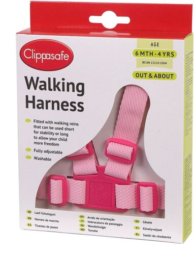 Clippasafe WALKING HARNESS /& REINS PINK Child Harness BNIP