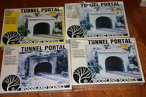 WOODLAND-SCENICS-4-MISC-2-TRACK-TUNNEL-PORTALS-NEW-OLD-STORE-STOCK