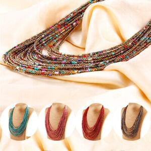 Seed-Beads-Necklace-Multi-Layer-Bib-Statement-Chain-Womens-Jewelry-Long-6-UJO