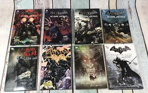 D-C-Batman-Arkham-Tpd-Comic-Book-Bundle-x8-Unhinged-Asylum-Origins-City-New-52