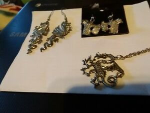 Necklace Volume Large Mixed Lot Of 3 Earrings Audacious Dragon Jewelry