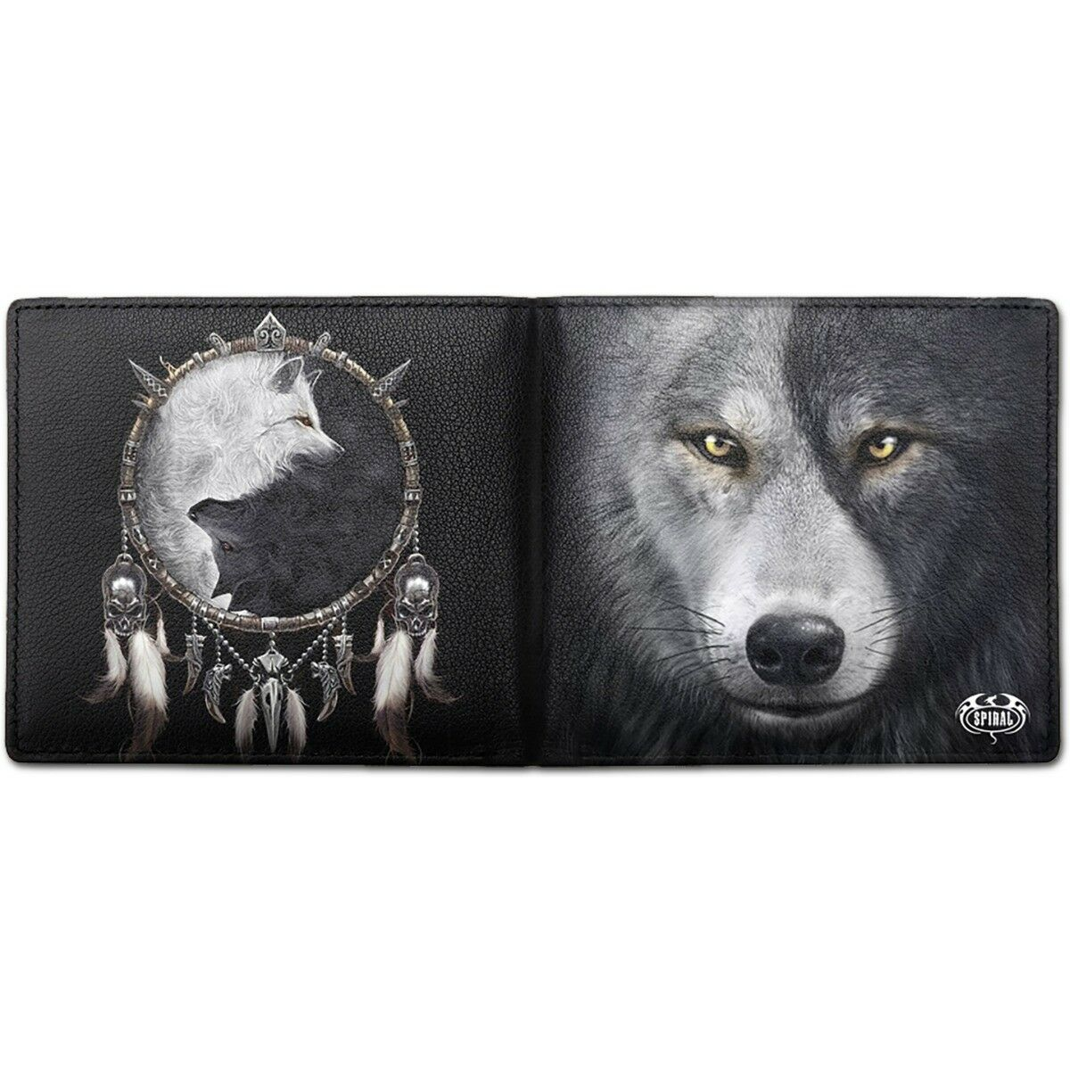 SPIRAL DIRECT WOLF CHI - BIFOLD WALLET WITH RFID BLOCKING AND GIFT BOX/Native