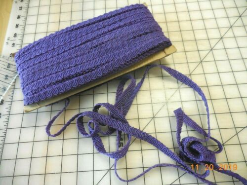 10Y Lot Vintage Purple Scroll Gimp Upholstery Fabric Trim 1//2W More Colors Avail