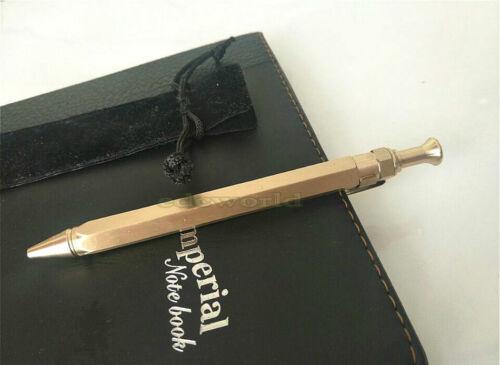 New Handmade Brass Spring EDC Retro Brass Tactical Pen Ball Point Pen P-22TP