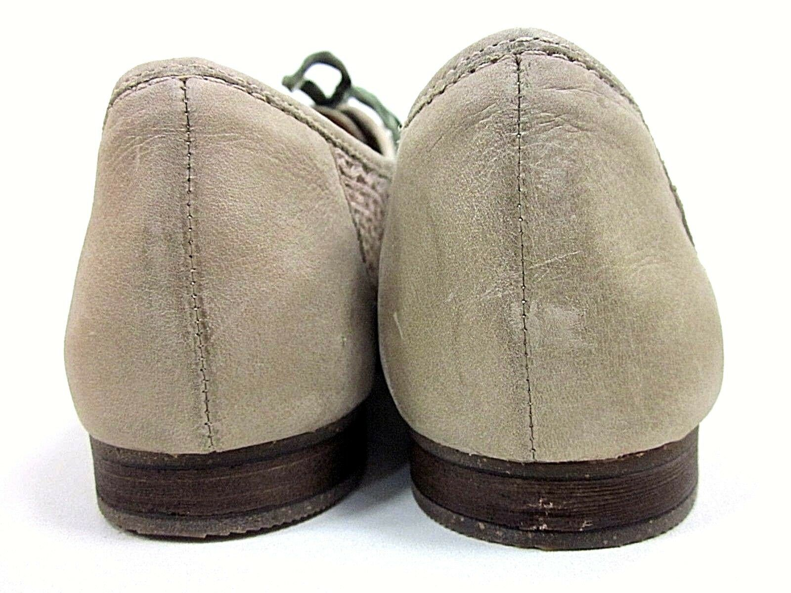 NAYA TRITE OXFORD WOMEN'S NEBBIA TAUPE NEW US SIZE 9.5 LEATHER/FABRIC NEW TAUPE /DISPLAY 48a09f