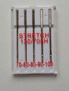 Stretch -Nadeln Needle 130-705 H Flachkolben Sortiment Stärken 70-100 Hose  Hemd