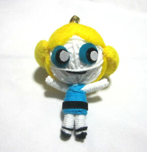 bubbles powerpuff girl voodoo string doll keychain
