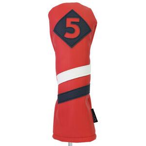Majek-Retro-Golf-5-Bois-De-Fairway-Voile-Rouge-Blanc-Bleu-Style-Vintage