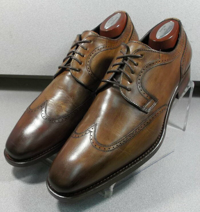 242604X MSi60 Chaussures Hommes Taille 9 M marron en cuir MADE IN ITALY Johnston Murphy