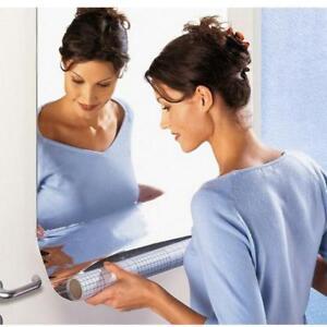 Mirror-Tile-Wall-Sticker-Square-Self-Adhesive-Room-Bathroom-Decor-Stick-On-Art