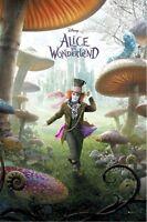 Alice In Wonderland Movie Poster Mad Hatter Triptych 27x39 Johnny Depp