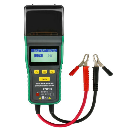 Battery Tester 12V//24V Lead-acid Battery Analyzer CCA 100-1700 Diagnostic Tool