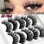 3D-Mink-Eyelashes-5-Pairs-Natural-False-Fake-Long-Thick-Handmade-Lashes-Makeup thumbnail 3