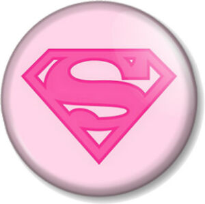 Image is loading Superwoman-Logo-Pink-1-034-Pin-Button-Badge-
