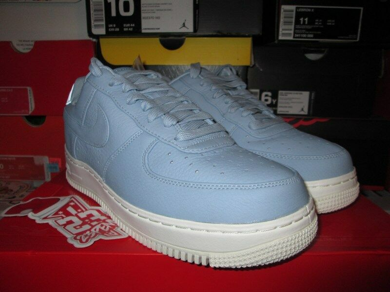 SALE NIKE LAB AIR FORCE 1 LOW BLUE GREY WHITE LEATHER 905618 400 SIZE 8 - 13  Great discount