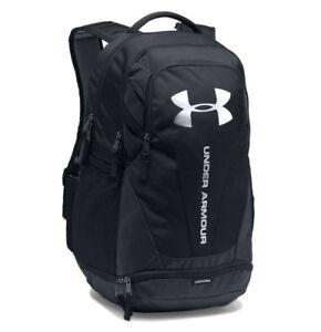 Under-Armour-UA-Hustle-3-0-Storm-Black-Silver-Backpack-Book-Bag