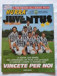 HURRA-039-JUVENTUS-N-8-1993-ROBERTO-BAGGIO-ALESSANDRO-DEL-PIERO-POSTER-ROSA