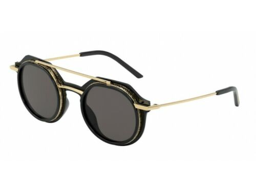 Dolce /& Gabbana Sonnenbrille DG6136  501//87 BLACK Schwarz grau