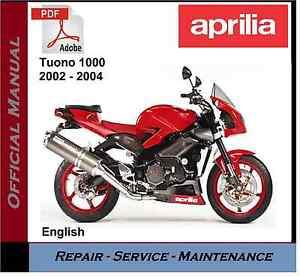 aprilia tuono 1000 2002 2004 workshop service repair manual ebay rh ebay co uk aprilia tuono factory 2016 manual aprilia tuono factory owners manual