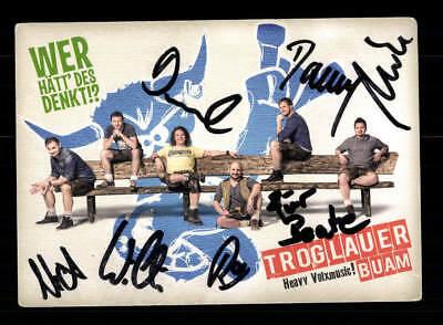 National Ehrlich Troglauer Buam Autogrammkarte Original Signiert ## Bc 117311 Musik
