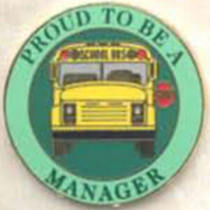 Details about Exclusive, Proud To Be a School Bus Manager Lapel / Hat Pin