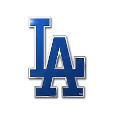 MLB Los Angeles Dodgers Car Truck Auto 3-D Aluminum Color Emblem Sticker Decal