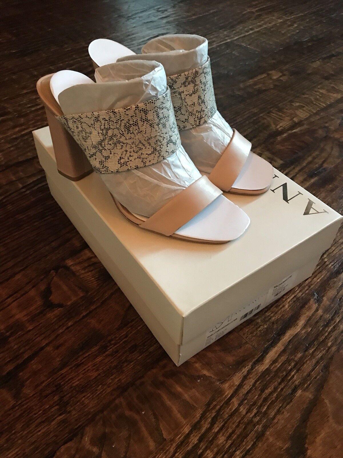 Ann Taylor Trisha Lizard Embossed Leather Heels Pink Buff Size 7 New In Box