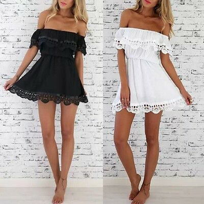 New Women Summer Casual Sundress Beach Skirts Mini Dress Backless Clothing M88