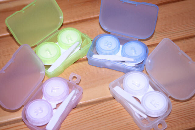 Eye Care Kit Portable Storage Contact Lens Case Box Holder Container Tweezer ia