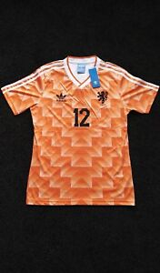 on sale dc30d 1932d Details about Netherlands Holland 1988 Van Basten Classic Retro Shirt  Jersey Euro 88. M L XL