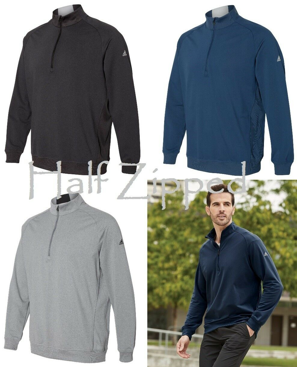 Adidas Golf Quarter-Zip Club Pullover Jacket A270 S-3XL Sweatshirt Jacket Pullover be4e68