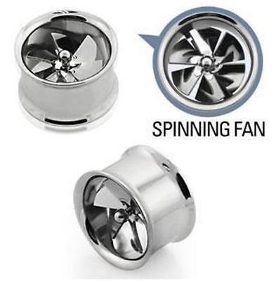 Spinning fan alloy wheel ear plug tunnel taper double flare