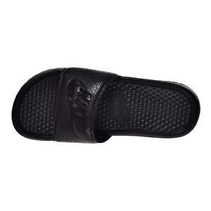 online store dfebd 37a5c Image is loading Nike-Benassi-JDI-Black-Black-Black-GS-343880-