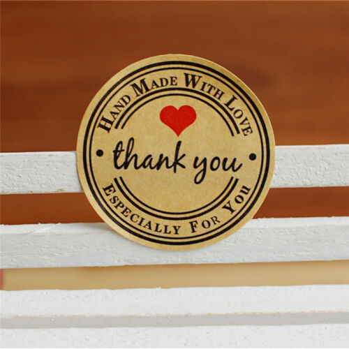 12//60//120x Thank You Hand Made with Love Especially for You Stickers Label R eL