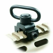 Quick Release Detach QD Sling Swivel Attachment with 20mm Picatinny Rail Mount