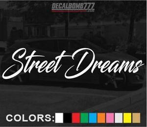 Street-Dreams-Script-Decal-Sticker-Vinyl-Turbo-Diesel-Car-Truck-Turbo-Blower-Low
