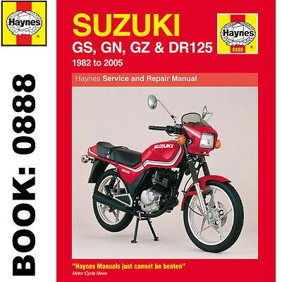 Suzuki DR125 GN125 GS125 GZ125 Singles 1982-2005 Haynes Workshop Manual