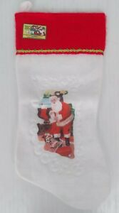 Vintage-Christmas-Stocking-19-Santa-039-s-First-Choice-USA