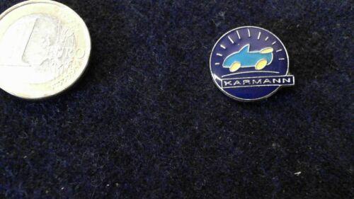 Karmann Pin Badge rund blau Cabriolet