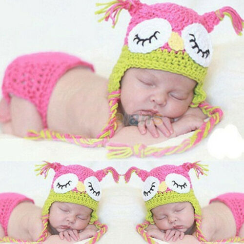 Baby Newborn Girls Boys Crochet Knit Costume Photo Photography Props Outfits