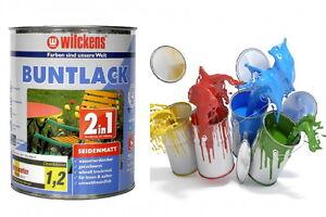 Buntlack 2 in 1 Lack + Grundierung Farbe Möbellack 14,4€/L Holzlack Shabby Chic