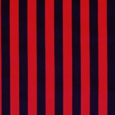 Black & Red Pirate Stripe Cotton Fabric *Off the Roll*
