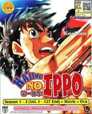 DVD Japan Anime HAJIME NO IPPO Season 1-3 Complete VOL 1-127 End +Movie +OVA
