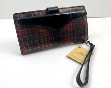 C4 S3 Patricia Nash Italian Leather ALMERIA Card Wristlet Zipper TARTAN NWT