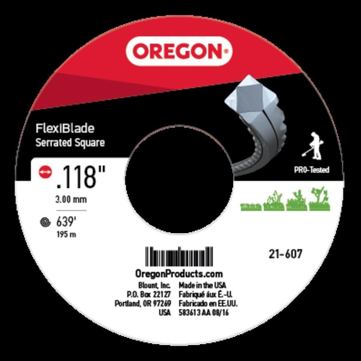 Genuine Oregon Flexiblade, dentado, .118in., 639 ft. parte   21-607