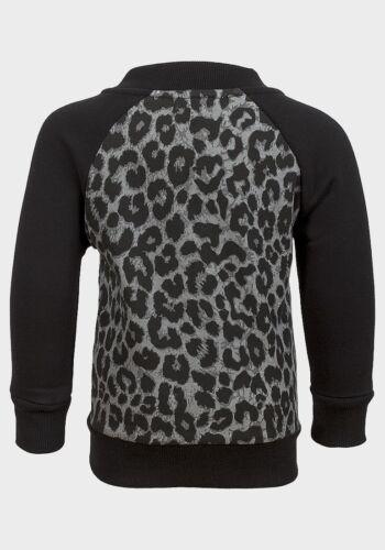 Zippered Girls Top Leopard Print