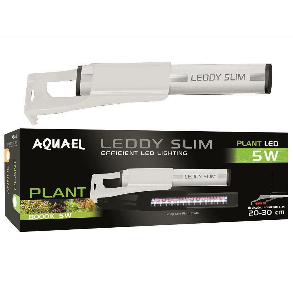 8  - 12  LEDDY SLIM Weiß GLASS AQUARIUM LED PLANTED (8000 K) 5 WATT - AQUA EL