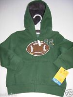 Sonoma Boy's Jacket Hood Hoodie Zipper Pocket Football Toddler 18m 24m